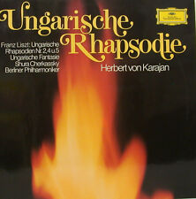 "LISZT UNGARISCHE RAPSODIE FANTASIA CHERKASSKY HERBERT VON KARAJAN 12"" LP d743"