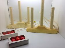 Lot Of 2 Timco 3 Light Candolier Molded Plastic Christmas Window Candles in Box
