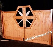 Wooden driveway Gates,Garden gates,Double gate.MEASUREMENT for gate manufacture