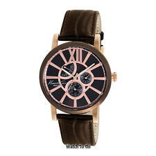 NEW KENNETH COLE WATCH for Men * Rose Gold Tone Dial w/Brown Leather *  KC1981