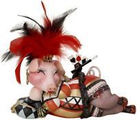 Fanny Lucky Pig Las Vegas Showgirl Figurine Margaret le Van Zoo Divas Whimsical