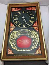 Vintage Amaretto Di Amore Wood Clock Sign Bar Liqueur Alcohol Man Cave Garnier