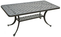 Nassau coffee table patio side outdoor cast aluminum backyard furniture