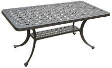 Nassau coffee table patio side outdoor cast aluminum backyard furniture