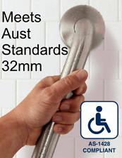 450mm GRAB/SAFETY RAIL 32mm Quality S/Steel Handrail for Bathroom/Shower/Toilet