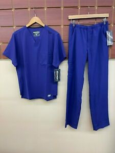 NEW Men's Skechers Purple Solid Scrubs Set With Small Top & Small Pants NWT