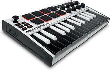 Akai Professional Mpk Mini Mk3 - 25 Key Usb Midi Keyboard Controller (White)