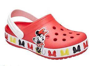 CROCS Clogs Disney Minnie Mouse Red clogs Sandals kids/Children's sz 1