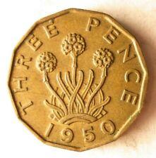 1950 GREAT BRITAIN 3 PENCE - Rare Date Premium Vintage Bin #7