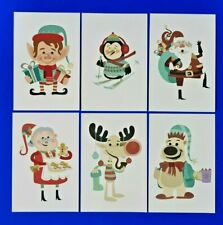 Set of 6 NEW Postcards, Christmas Cartoon Characters, Great for Postcrossing