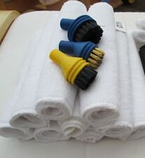 Little YellO Steam Cleaner Replacement Micro Fibre Cloths and Brushes Kit