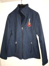 """Womens Eddie Bauer Blue Zipper Jacket """"Nashville Rocks"""" Guitar~Medium Excellent!"""