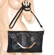BOLSA borsello mujer negro elegante bolso eco cuero pintar clutch bag сумка 1020