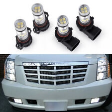 New Listing4x White Led Fog Driving Drl Light Bulbs Combo Kit For 2007-14 Cadillac Escalade (Fits: Cadillac)