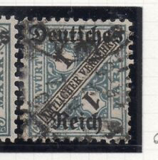 Germany 1920 Wurt. OFFICIAL Early Issue Fine Used 1M. Optd 270859