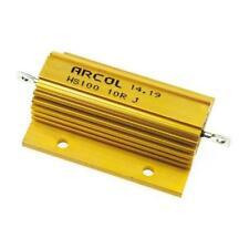 1 x Arcol HS100 10R Aluminium Housed Axial Wire Wound Resistor, 10Ω ±5% 100 Watt