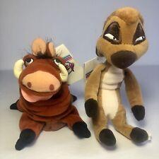 Disney Lion King Plush Lot Pumba & Timon Hakuna Matata Beanie Bags NEW W/Tags