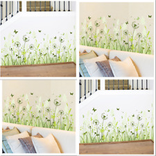 Dandelion Baseboard DIY Removable Art Vinyl Wall Stickers Decal Mural Home Room