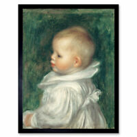 Pierre Auguste Renoir Portrait Of Claude Renoir Art Print Framed 12x16