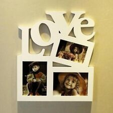 DIY Hollow Love Wooden Wood Photo Picture Frame Rahmen Family Home Decor