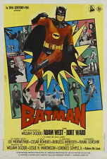 BATMAN Movie POSTER 27x40 Italian Burt Ward Adam West Burgess Meredith Cesar