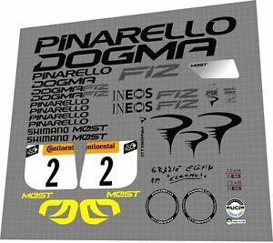 2019 Pinarello Dogma F12 Team black INEOS DECAL SET