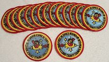 """16 Total 1973 Santa Clara Council """"First In Space Round Up""""  Boy Scouts Patch"""