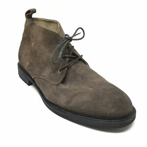 Men's Banana Republic Lace Up Chukka Boots Shoes Size 11.5 Brown Suede