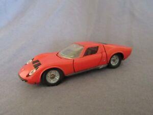 518F Vintage Solido Réf 161 Lamborghini P400 Miura GT Orange 1:43