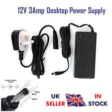 12v 2.5amp Desktop Alimentatore PSU Adattatore caricatore UK Plug per strisce di luci 12v