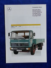 Mercedes-Benz LKW - Pritschenwagen 1314 - Prospekt Brochure 03.1990