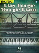 How to Play Boogie Woogie Piano Keyboard Instruction Book + Audio NEW 000140698