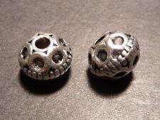 10pc 9.5mm Premium Tibetan Silver Bali Style Metal Spacer Beads (T064)