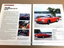 Lamboghini 350GT 400GT riginal Car Review Print Article J669 1965 1966 1967 1968