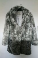 Next Girls Faux Fur Jacket Coat 11/12yrs. Immaculate. Animal print