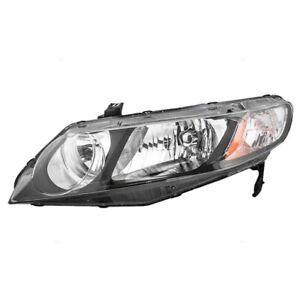 09-11 Honda Civic Sedan 06-11 Hybrid Headlamp Unit With Clear Park Lens LH