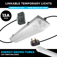 240V LINKABLE LED STRIP LIGHTS 2FT - 6FT IP65 SINGLE OR TWIN WEATHERPROOF LIGHTS
