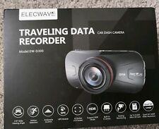 New listing Elecwave Traveling Data Recorder Car Dash Camera Ew-D300 Mountable 1080 Hd G-Sen