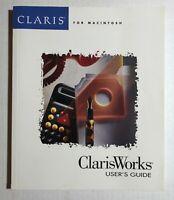 Vintage ClarisWorks 2.0 For Macintosh User's Guide (1990, 1992-1994)