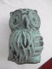 TURQUOISE/BLACK HOBBY  Lobby  Owl Collectible Statue Table Piece  474940