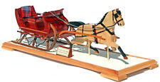Christmas Sleigh & Horse woodwork plan full size patterns like Currier and Ives