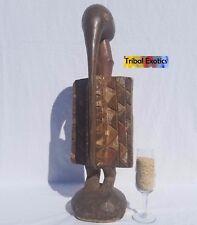 PREMIUM Tribal African Art - Senufo Hornbill Bird Figure Sculpture Statue Mask