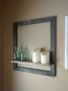 handmade picture frame shelf home decor and wall art