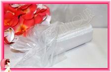 WHITE 15cm x 23m Organza Roll Shimmering Sheer Wedding Fabric Drape Bow Tulle
