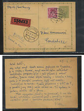 Czechoslovakia   nice express  uprated postal card 1938            AT0608