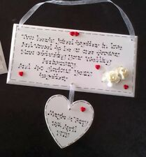 Handmade Personalised 40th Ruby 40 Years Wedding Anniversary Poem Gift Plaque