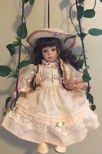 The Rose Collection- Porcelain Doll- Hanging Swing