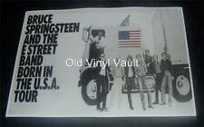 Bruce Springsteen  And The E Street Band Born In The USA Tour Promo Poster Repro