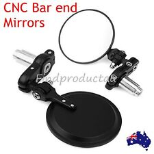 "Black 7/8"" Handle Bar End Mirrors For Triumph Bonneville America T100 SE"