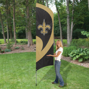 NEW ORLEANS SAINTS 8.5 FOOT TALL TEAM FLAG 11.5' POLE SIGN BANNER NFL
